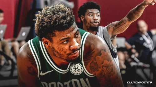 Celtics' Marcus Smart leaves game vs. Knicks after taking elbow to his oblique area