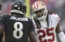 49ers' Sherman sounds off on knee injury, sideline beef with Ravens' Harbaugh