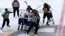 Weber shoves Pastrnak to kick off Canadiens vs. Bruins line brawl