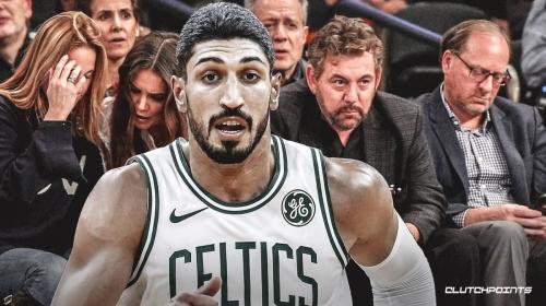 Celtics' Enes Kanter explains post-game hug with Knicks owner James Dolan