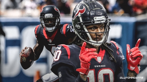 DeAndre Hopkins pitches the ball to Deshaun Watson for TD vs. Patriots
