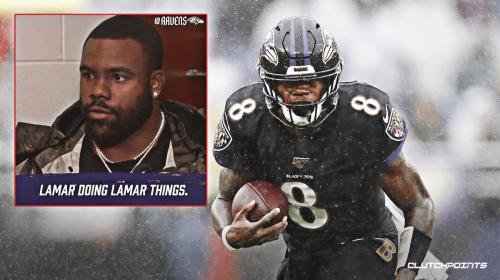 Video: Ravens' teammates react to Lamar Jackson's insane juke move vs. 49ers