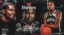 Kevin Durant on cover of Forbes for Class of 2020 30 under 30 list