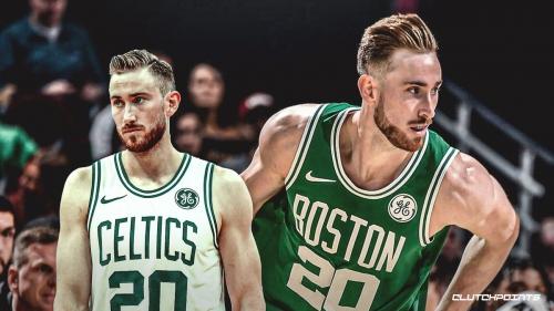 Gordon Hayward goes through some contact in Celtics practice
