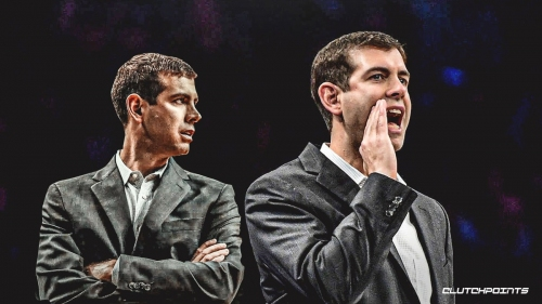 Brad Stevens reacts to getting caught cussing on camera about coach challenges