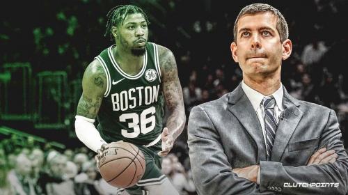 Celtics' Brad Stevens says Marcus Smart 'will not play' if abdomen is 'super sore'