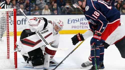 Darcy Kuemper, Coyotes hold off Blue Jackets