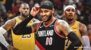 Carmelo Anthony on potentially joining LeBron James, Lakers before Blazers