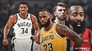 ESPN's straw poll has Giannis Antetokounmpo early leader for MVP over LeBron James, Luka Doncic, James Harden