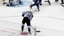 Nathan MacKinnon beats Frederik Andersen with a perfect shot