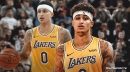 Video: Lakers' Kyle Kuzma hits back-to-back last-second shots in first half vs. Jazz