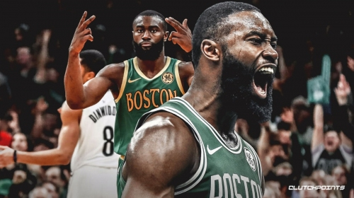 Celtics' Jaylen Brown dedicates his blown kisses to critics saying he's a 'non-shooter'