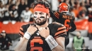Browns QB Baker Mayfield is throwing on Thursday