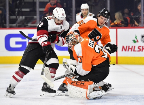 Arizona Coyotes move into first place in Pacific Division after beating Philadelphia Flyers