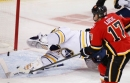 Milan Lucic finally gets on the board with Flames to help overcome Sabres