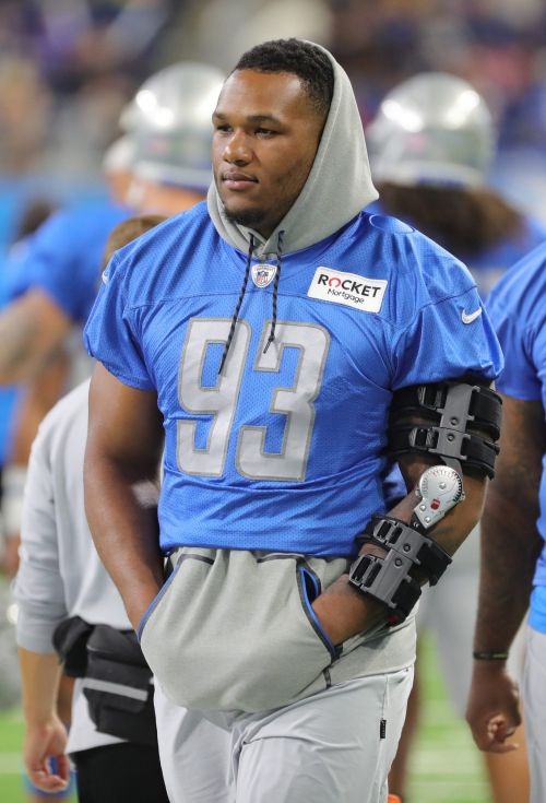 Detroit Lions injury report: Da'Shawn Hand out vs. Vikings with ankle injury