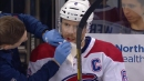 Canadiens' Weber bloodied after stopping puck with mouth
