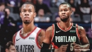 Blazers video: Rodney Hood goes down with non-contact injury, appears to be Achilles-related