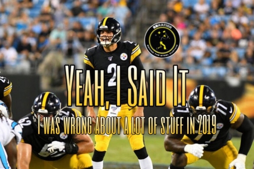 Podcast: I was wrong about a lot of things regarding the 2019 Steelers