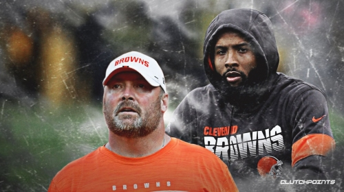 Freddie Kitchens reacts to rumors that Odell Beckham Jr. is unhappy with the Browns