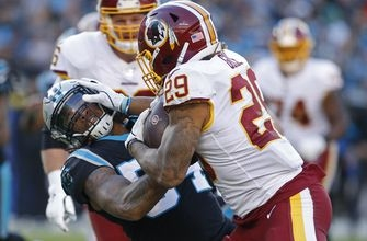 RB Guice to miss Redskins' game vs. Eagles with knee injury