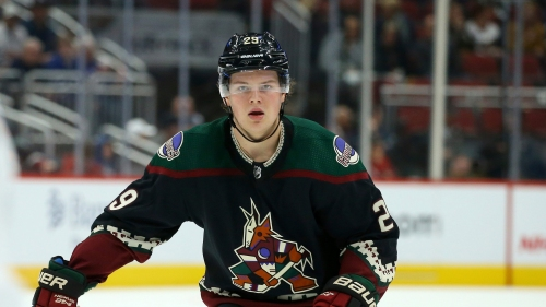 Odd man out: Playing time has been scarce for Arizona Coyotes rookie Barrett Hayton
