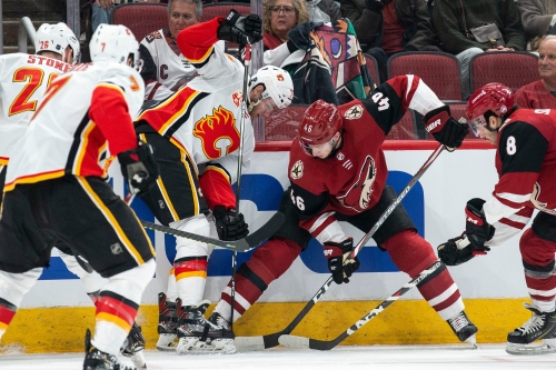 Coyotes routed by Flames in return home from successful road trip