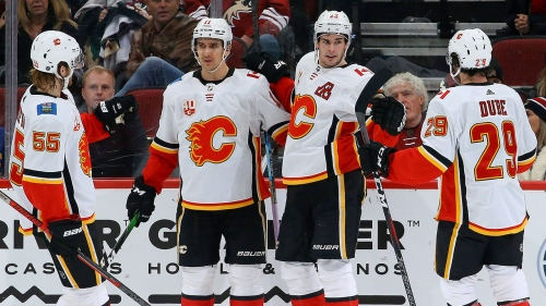 Flames' win streak at six games with victory over Coyotes