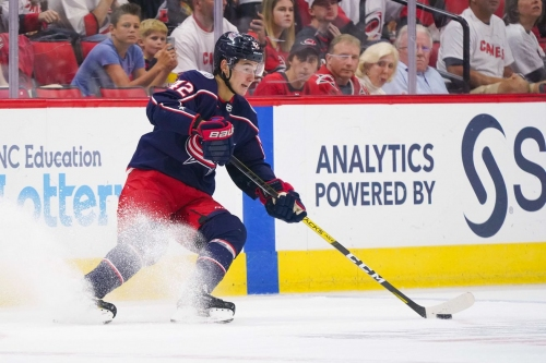 Alexandre Texier has moved to center and, as a result, represents the Blue Jackets hopes for the future