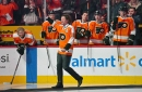 Hartnell and Laperriere throw hands