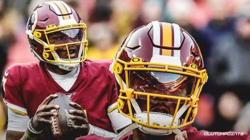 Redskins QB Dwayne Haskins fully participates in Wednesday's practice despite ankle sprain