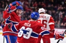 Montreal Canadiens Charles Hudon and Matthew Peca Out