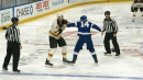 Zdeno Chara and Patrick Maroon engage in heavyweight fight