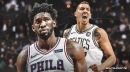 Sixers' Joel Embiid seals the win with a block on Daniel Theis