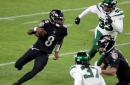 Lamar Jackson breaks single season QB rushing record as Ravens cruise past Jets, 42-21