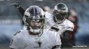 Ravens QB Lamar Jackson reacts to breaking Michael Vick's QB rushing record