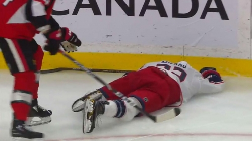 Borowiecki and Anderson fight after dangerous looking hit