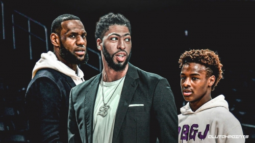 Anthony Davis says 'it's a great time' for LeBron James as Bronny James Jr.'s high school career takes off