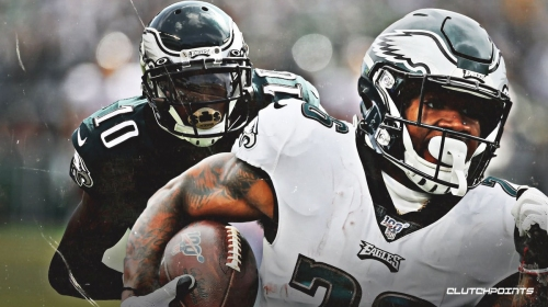 Miles Sanders passes DeSean Jackson for most scrimmage yards by a rookie in Eagles history