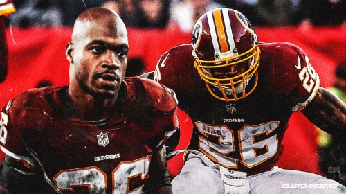 Redskins' Adrian Peterson moves into fifth in all-time rushing yards in NFL history