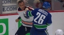 Darnell Nurse and Antoine Roussel drop the mitts