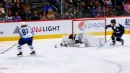 Philipp Grubauer absolutely robs Kyle Connor with astounding save