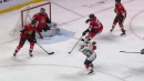 Evgenii Dadonov and Jonathan Huberdeau connect for Panthers goal