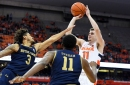 Was Syracuse's Joe Girard fouled in the final moments against Notre Dame?
