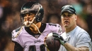 Zach Ertz consoles emotional Josh McCown after Eagles' loss to Seahawks