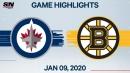 Pastrnak & DeBrusk dominate for Bruins over Jets