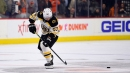 Marchand overskates puck in shootout, Bruins fall to Flyers