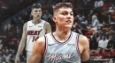 Heat rookie Tyler Herro out vs. Spurs with left knee bruise