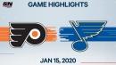Voracek scores in overtime as Flyers edge Blues