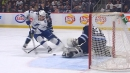 Anthony Cirelli cuts across Connor Hellebuyck to score on the Jets
